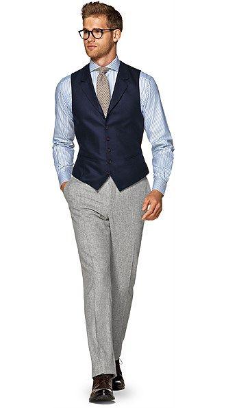 Navy Waistcoat | Mens outfits, Elegant men style, Gentlemen we