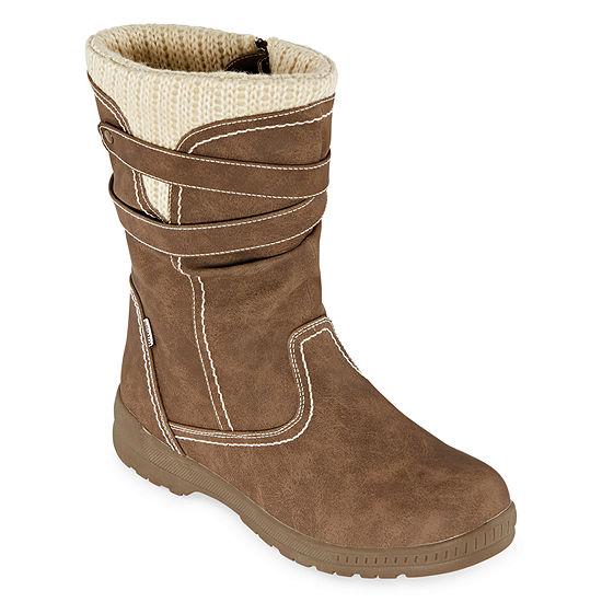 Totes Womens Hera Waterproof Winter Boots Flat Heel - JCPenn