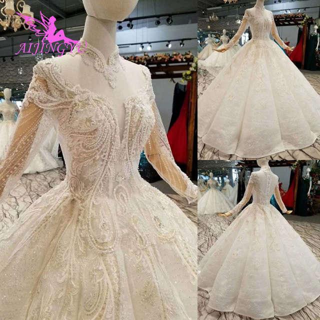 AIJINGYU Open Back Wedding Dresses For Sale Designer Simple Bride .