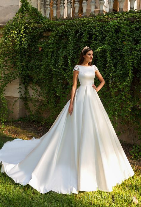 Beautiful Wedding Dresses from the 2017 Crystal Design Collection .