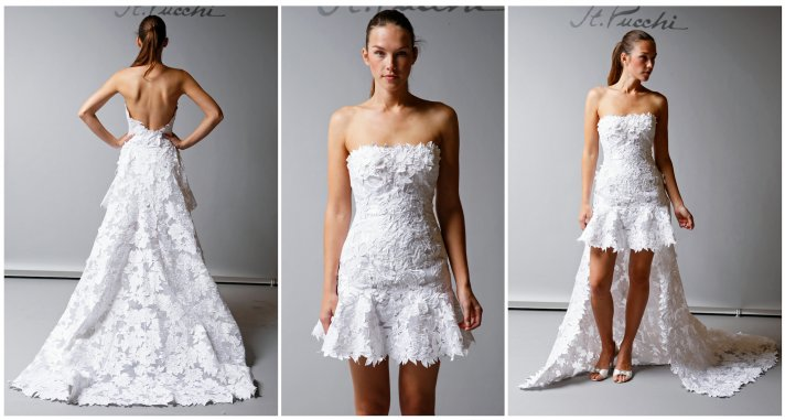 7 Lovely Little White Wedding Dresses for the Recepti