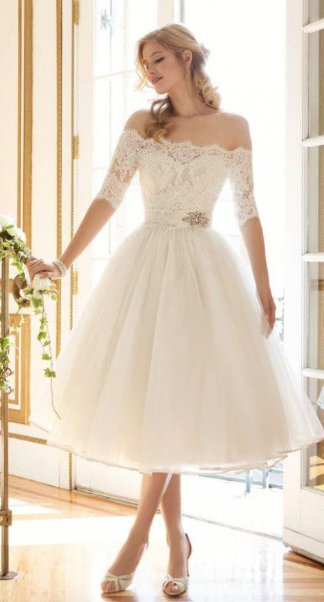 Choosing a Wedding Reception Dress That is Classy | Tea length .