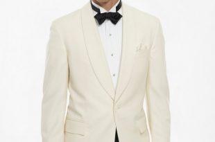 Men's White One-Button Dinner Jacket | Brooks Brothe
