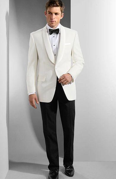 Neil Allyn [367C] 1 Button Shawl White Dinner Jacket | Hi .