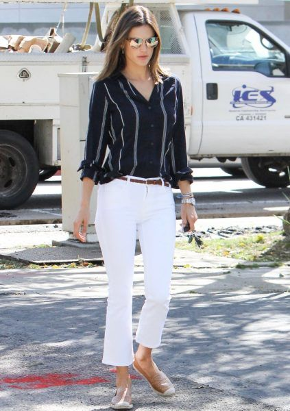 White Jeans Outfit Ideas: How Celebs Rock White Jeans | Fashion .