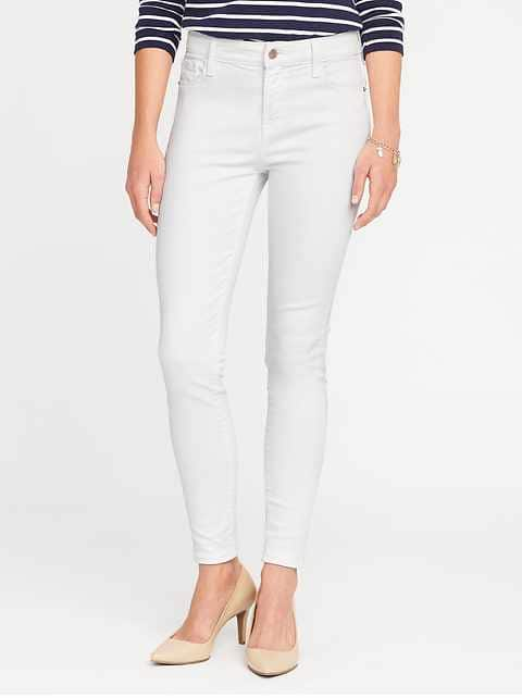 Mid-Rise Built-In-Sculpt Rockstar Jeans for Women | Old Na