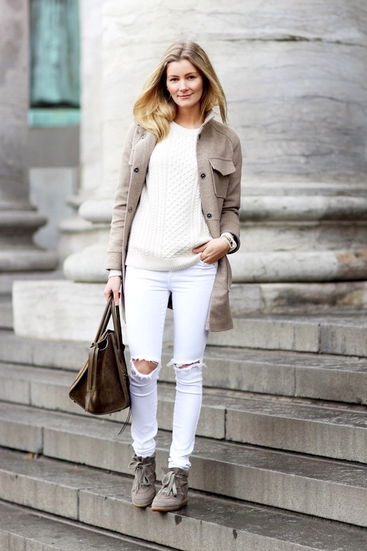 White Jeans Styles For Women 2020 | FashionGum.c