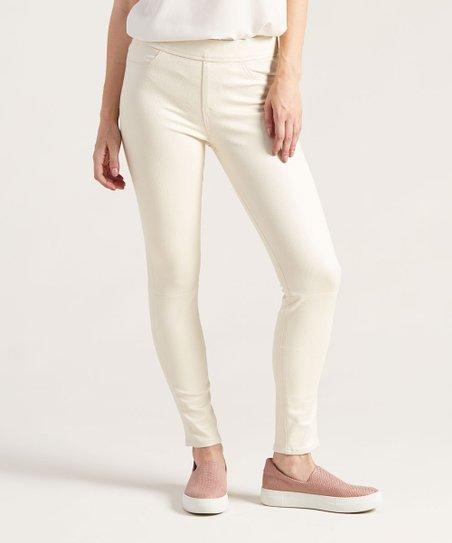 Jen7 Off-White Comfort Skinny Jeans - Women | Zuli