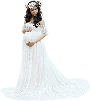 Amazon.com: Long Maternity Dress,Hemlock Women Lace Maternity .
