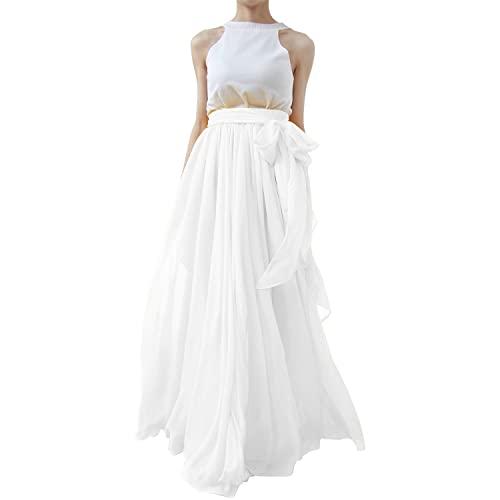 Wedding White Maxi Skirt: Amazon.c