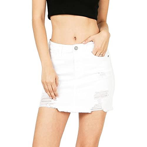 White Jean Skirt: Amazon.c