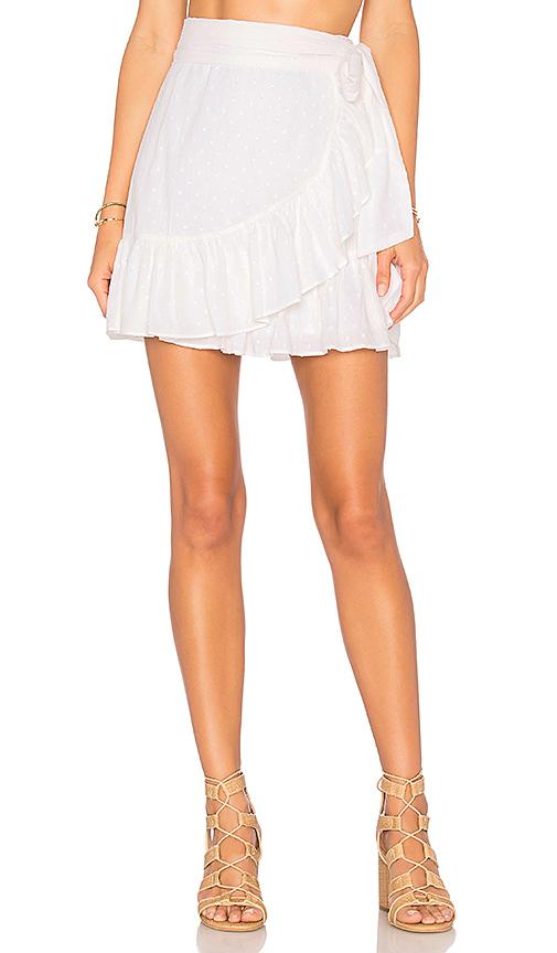 Tularosa x REVOLVE Maida Ruffle Skirt in White | REVOL