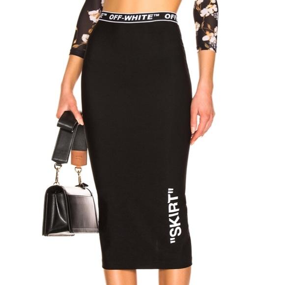 Off-White Skirts | Offwhite Pencil Skirt | Poshma