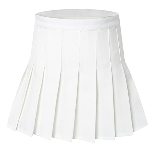 White Pleated Skirts: Amazon.c