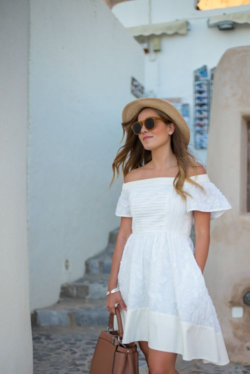 Oia Sunset | Summer dress outfits, White dress summer, Summer dress