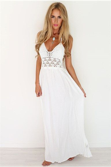 Boho chic summer dress bohemian style hippie fashion | Backless .