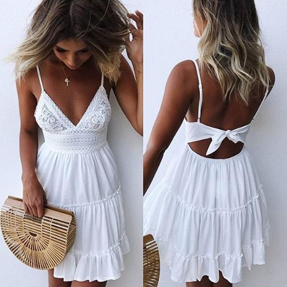 Backless Summer Dress - Utterly Unique Boutique - AWESOME - FREE .