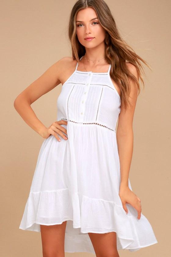 O'Neill Cascade Dress - White Sundress - Boho Dre