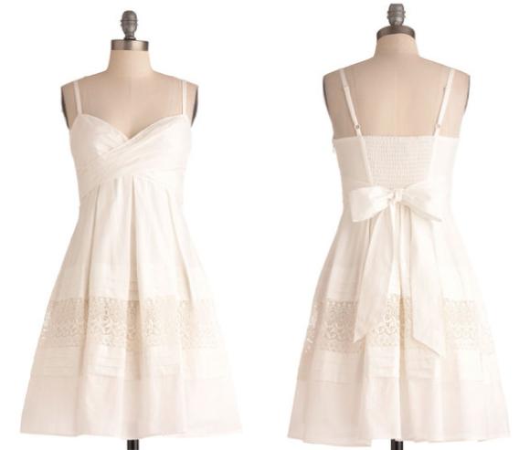 Short White Wedding Sendoff Dress | Wedding sundress, White .