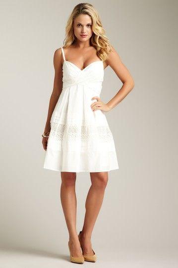 Jessica Simpson Wrap Bodice Sundress | Cute white dress, Little .