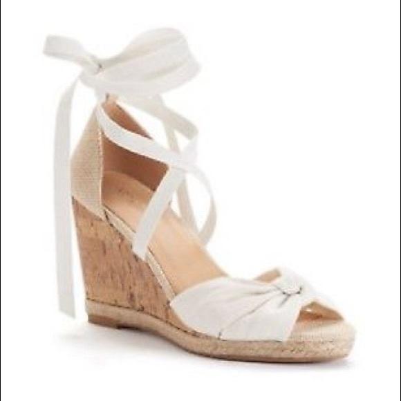 Apt. 9 Shoes | Ap Cherry White Wedges | Poshma