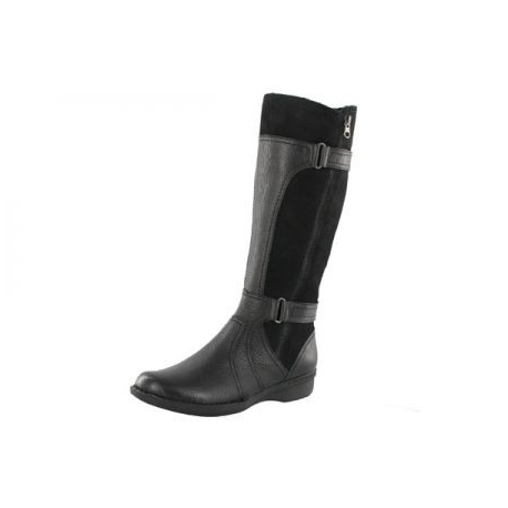 Clarks Womens Wide Width Casual Dress Riding Winter Boots FREE .