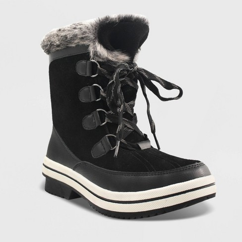 Women's Ellysia Microsuede Short Functional Winter Boots .
