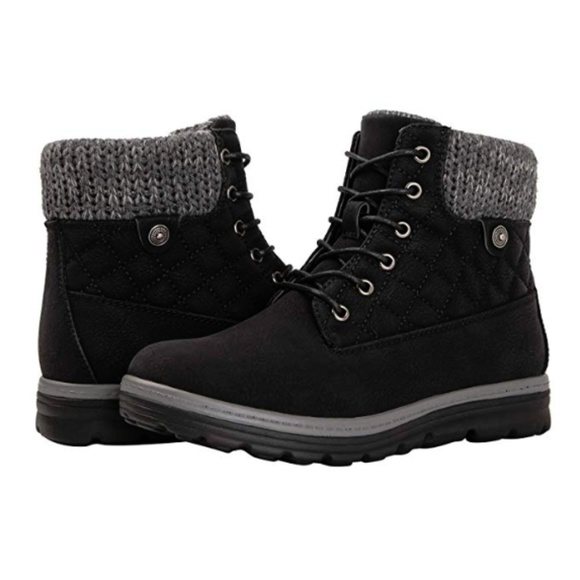 Moda Black Label Shoes | Womens Mariah Black Winter Boots | Poshma