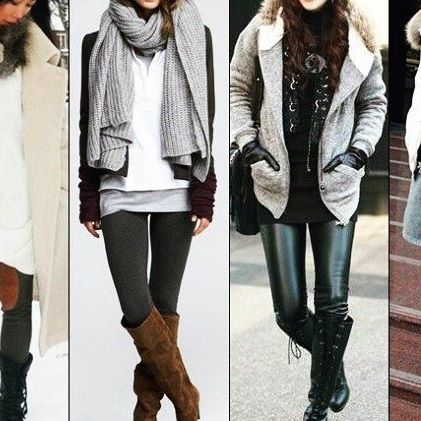 Latest style inspiration from winter leggings - fashion-women.c