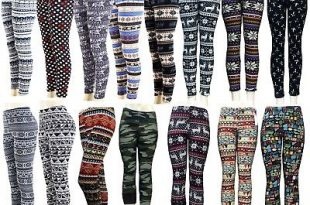 Knitted Nordic Insulated Leggings Thick Warm Winter Ti Pants .