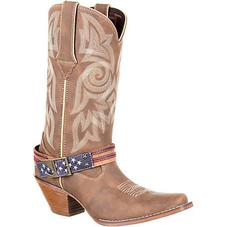 Durango Women's 12 in. Crush American Flag Strap Cowboy Boot .