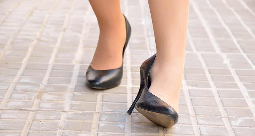 Many women take unnecessary risks with sky-high heels | Science .