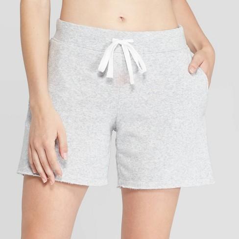 Women's Cozy Fleece Bermuda Lounge Shorts - Colsie™ Heather Gray .