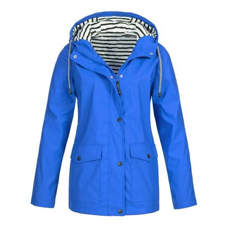 JustVH - JustVH Women's Waterproof Jacket Hooded Lightweigth .