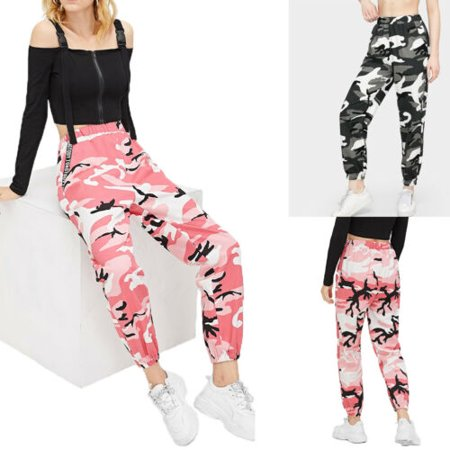 Nituyy - Womens Camo Cargo Trousers Casual Pants Military Army .