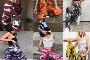 Hirigin - Womens Camo Cargo Trousers Casual Pants Military Army .