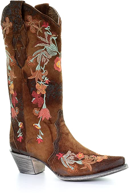 Amazon.com | Corral Women's Lindsey Floral Embroidery Leather .