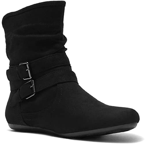 Amazon.com | Herstyle Lindell Women's Fashion Flat Heel Calf Boots .