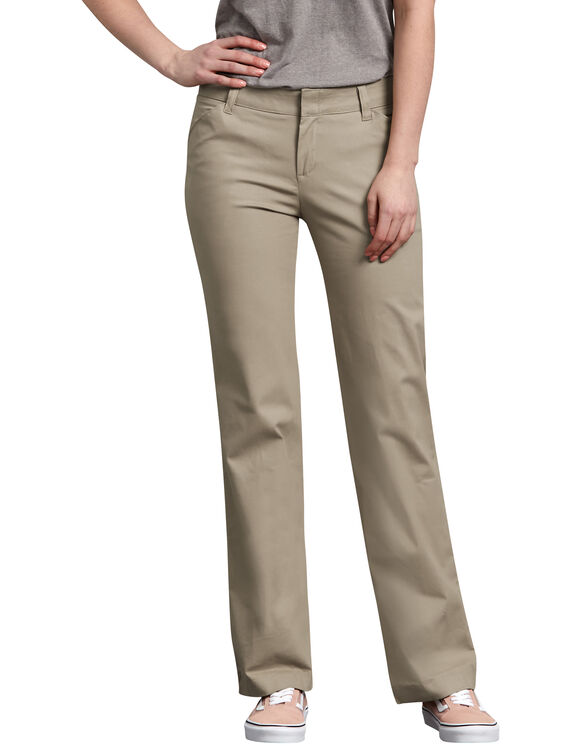 Women's Relaxed Fit Straight Leg Stretch Twill Pants , Desert .