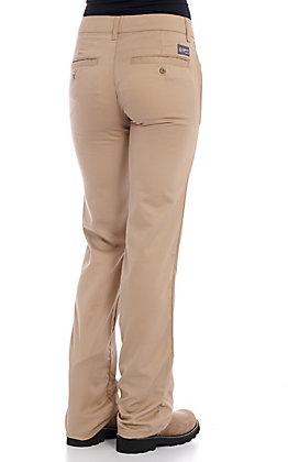 Lapco Women's Khaki CAT 2 FR Boot Cut Uniform Pants | Cavender
