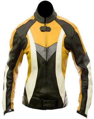 Womens Leather Motorcycle Jacket : Splashy Ge
