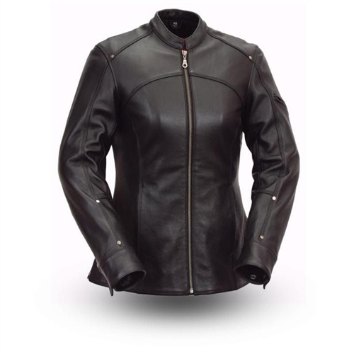 Scooter Style Womens Leather Motorcycle Jackets - First Classi