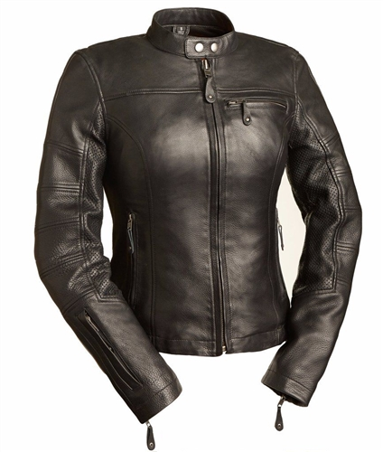 Women's Leather Motorcycle Jackets By First Classics - Free Shippi