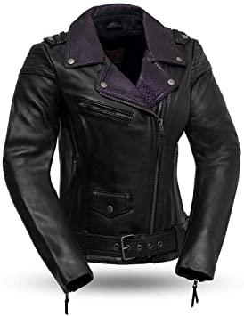 Amazon.com: First MFG Co. - Iris - Women's Leather Motorcycle .