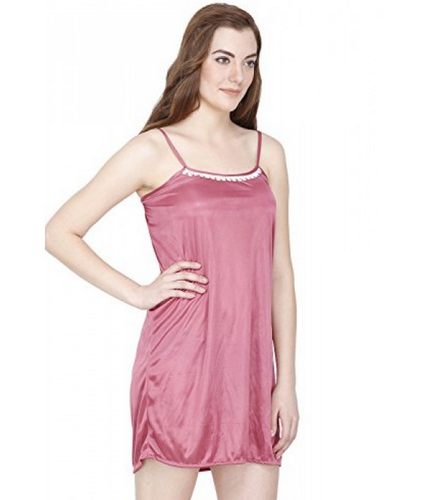 Pink Secret Wish Women's Satin Baby Doll Lingerie Nightwear, Rs .