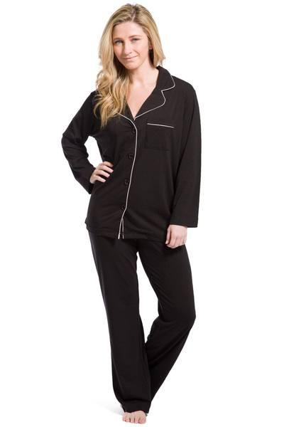 Women's Pajamas | Organic Cotton Full Length Pajamas | Fishers Fine