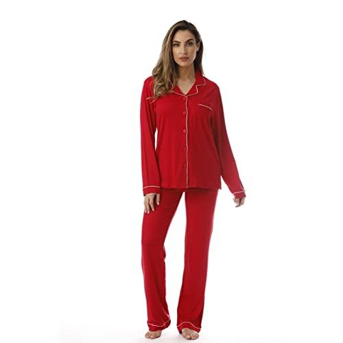 Red Womens Pajamas: Amazon.c