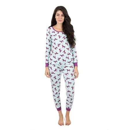 Leveret - Leveret Womens Pajamas Unicorn 2 Piece Pajama Set 100 .