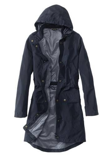 A longer women's rain jacket by Barbour® for those times when .