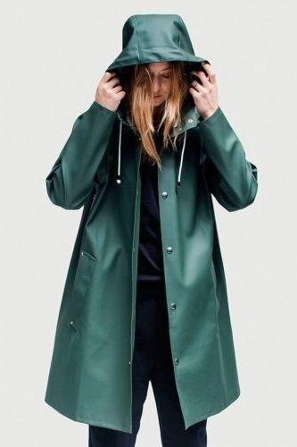 Mosebacke rain jacket green | Rain jacket women, Raincoats for .